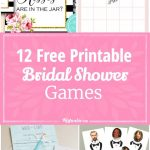12 Free Printable Bridal Shower Games   Party Time   Free Bridal   Free Printable Bridal Shower Blank Bingo Games