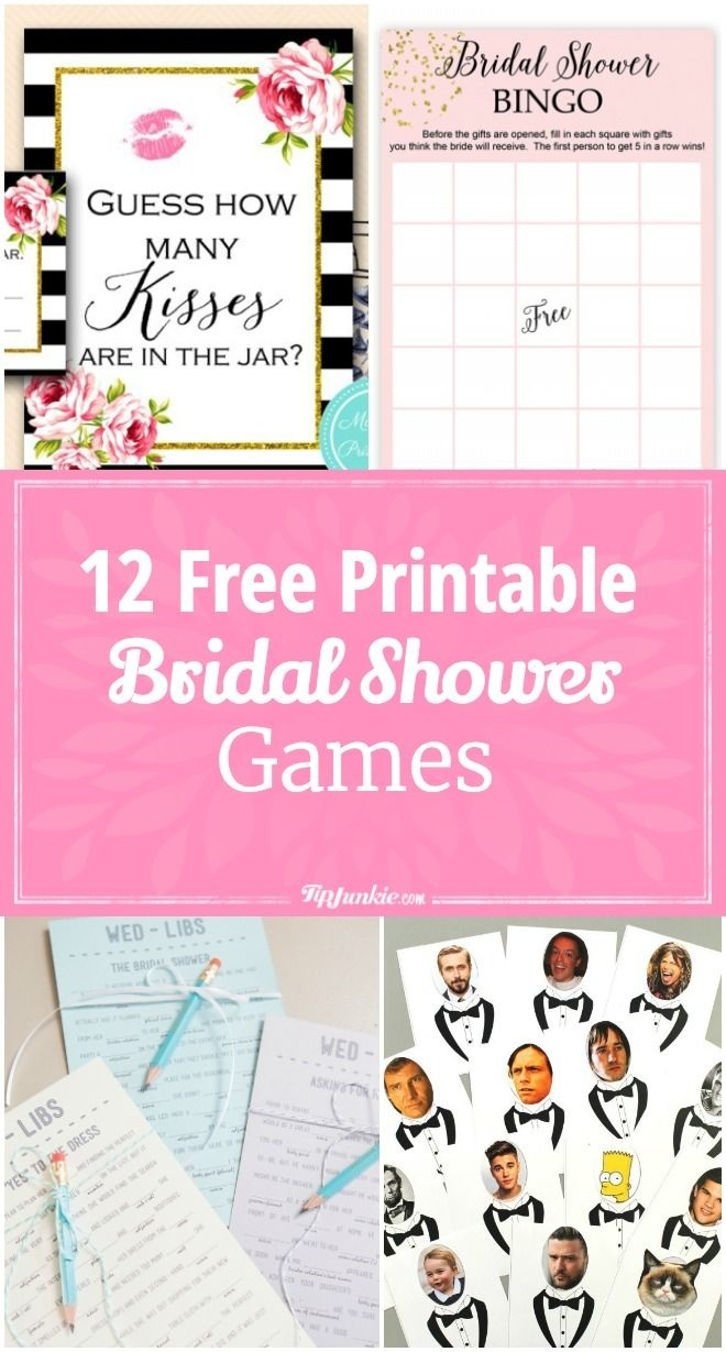 12 Free Printable Bridal Shower Games   Party Time   Free Bridal - Free Printable Bridal Shower Blank Bingo Games