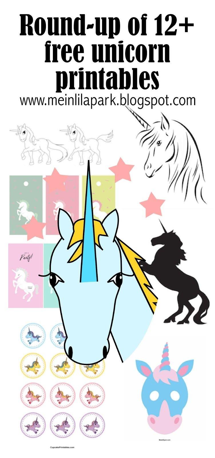 12+ Free Unicorn Printables - Einhorn - Round-Up | Printables - Unicorn Name Free Printable