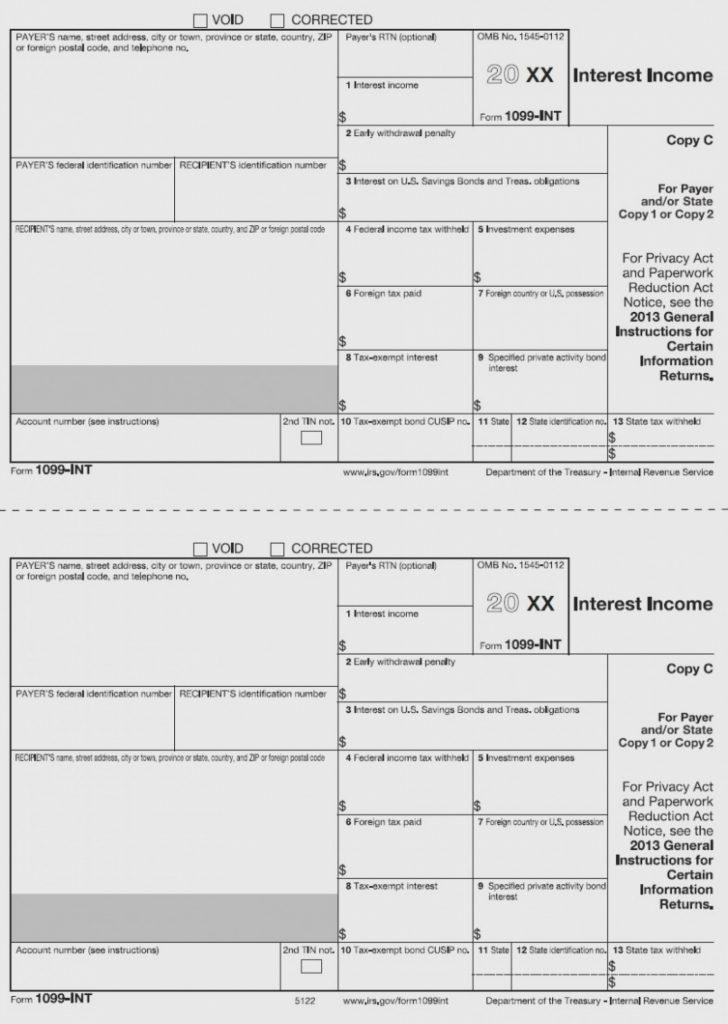 Free 1099 Form 2013 Printable
