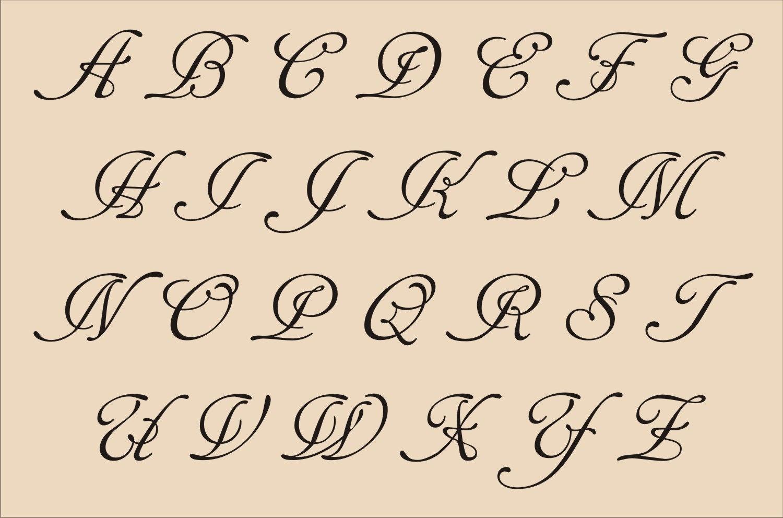 13 Printable Fancy Letter Fonts Images - Fancy Alphabet Letter - Free Printable Fancy Number Stencils