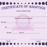 15+ Adoption Certificate Templates | Free Printable Word & Pdf   Free Printable Adoption Certificate