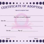 15+ Adoption Certificate Templates | Free Printable Word & Pdf   Free Printable Adoption Certificate