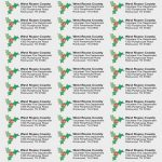 15 Doubts About Free Christmas Address   Label Design Model   Free Printable Christmas Return Address Label Template
