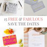 15 Free Printable Save The Dates | Southbound Bride   Free Printable Save The Date