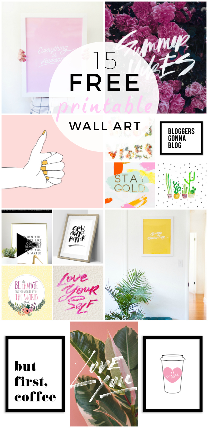 15 Fun Free Printable Wall Art - Fat Mum Slim - Free Printable Wall Art