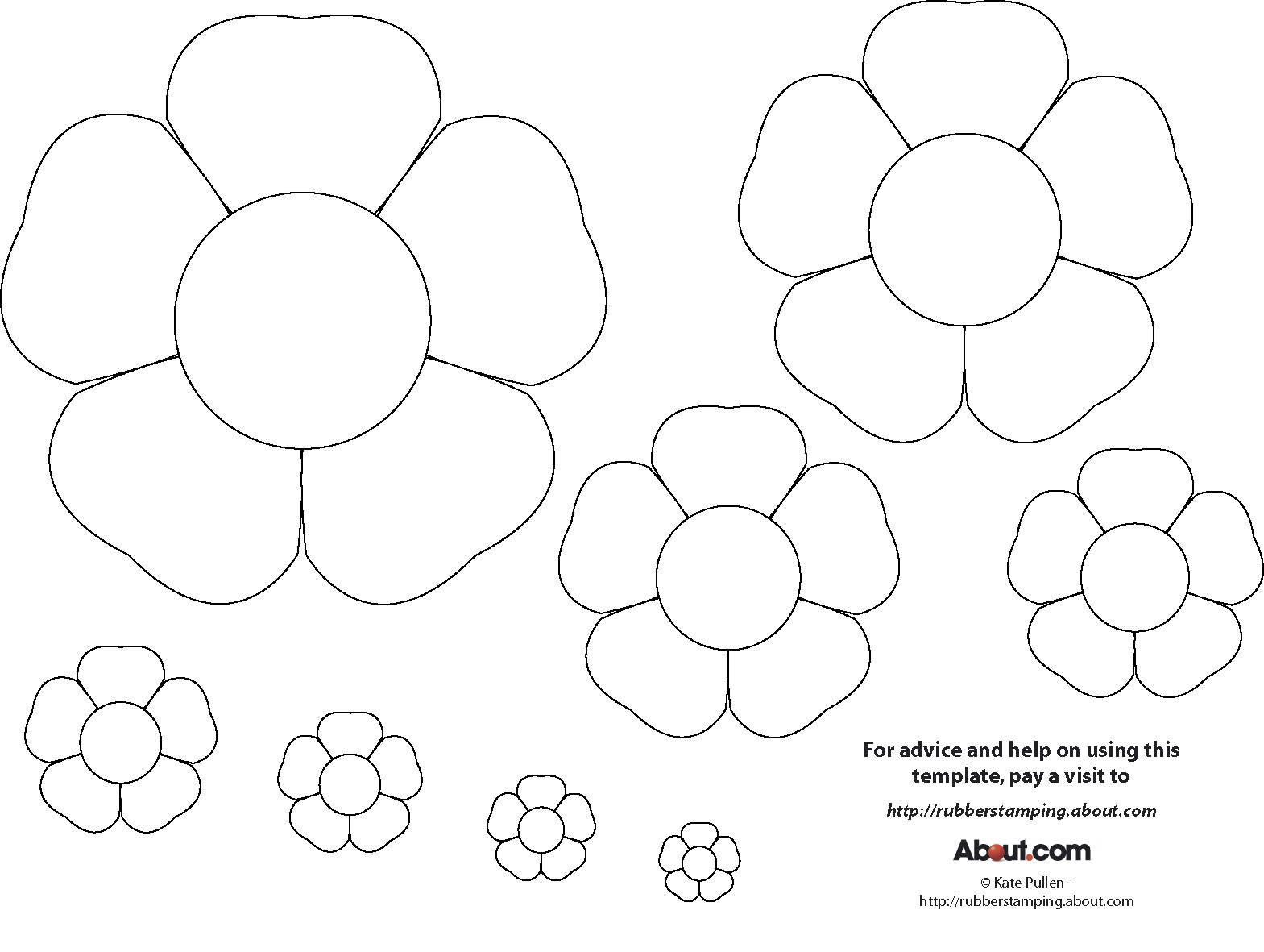 15 Printable Flower Patterns Designs Images - Paper Flower Templates - Free Printable Flower Template