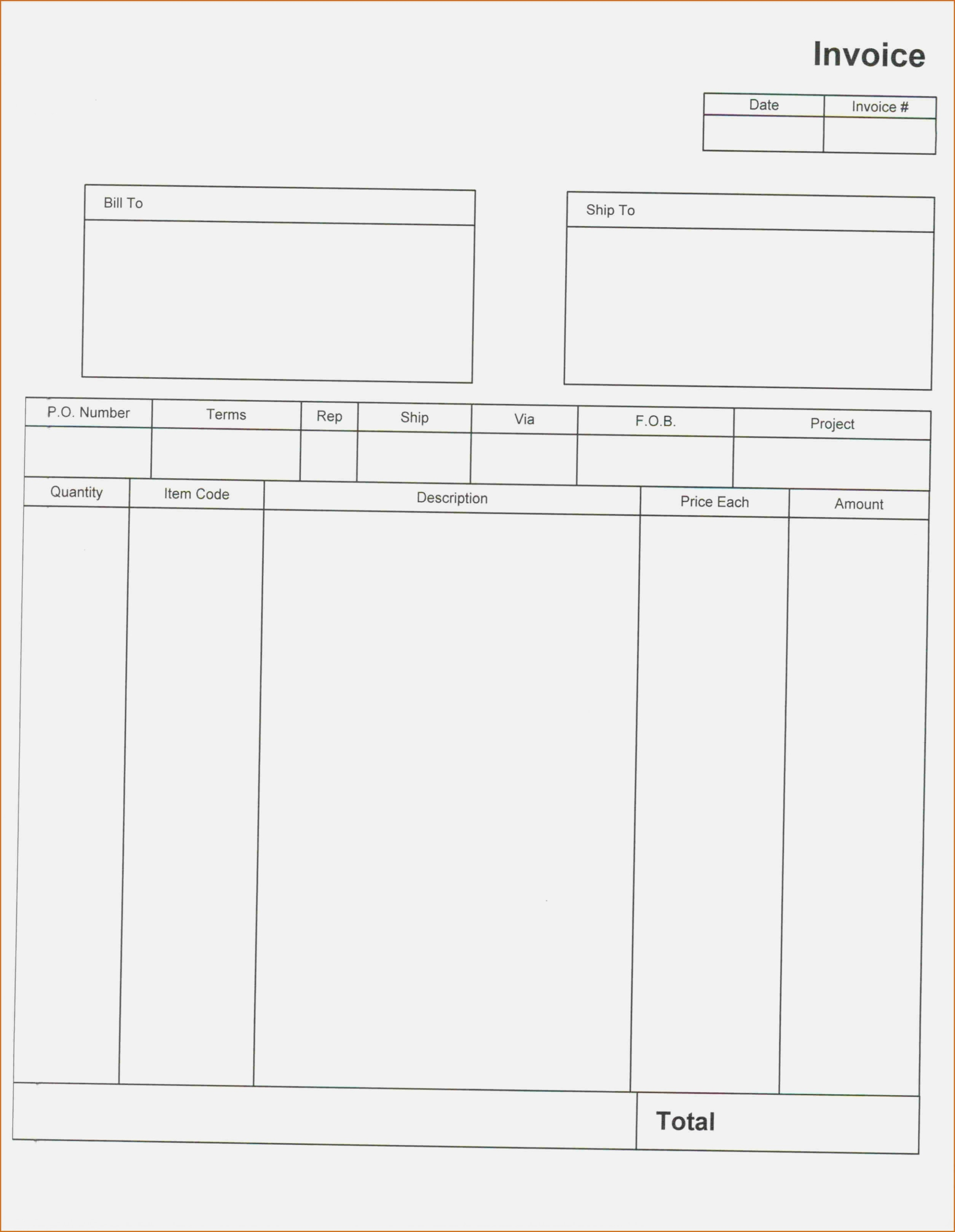 15 Quick Tips For Empty | Realty Executives Mi : Invoice And Resume - Free Printable Blank Invoice