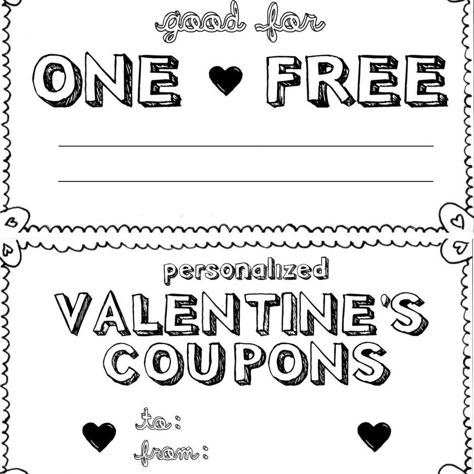 15 Sets Of Free Printable Love Coupons And Templates - Free Printable Valentine Books