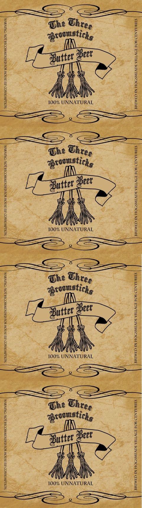 15 Unique Harry Potter Labels Pictures | Waiyiptat - Free Printable Butterbeer Labels