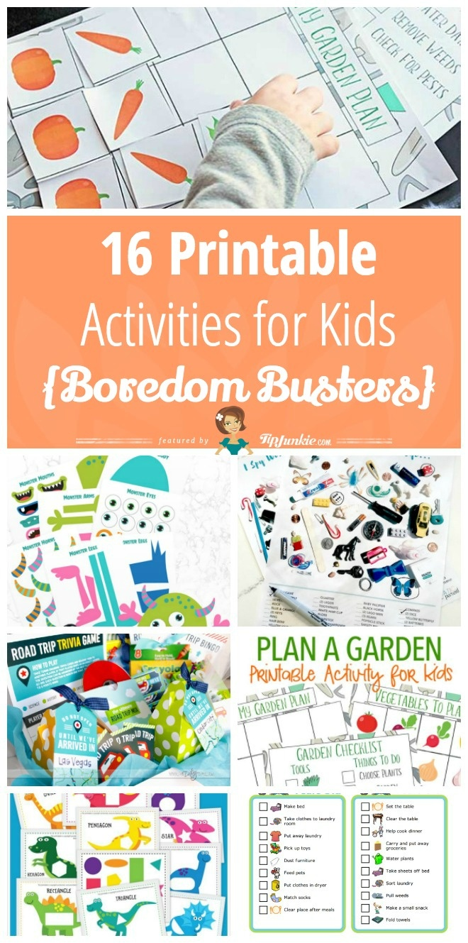16 Printable Activities For Kids [Boredom Busters] – Tip Junkie - Free Printable Activities For Kids