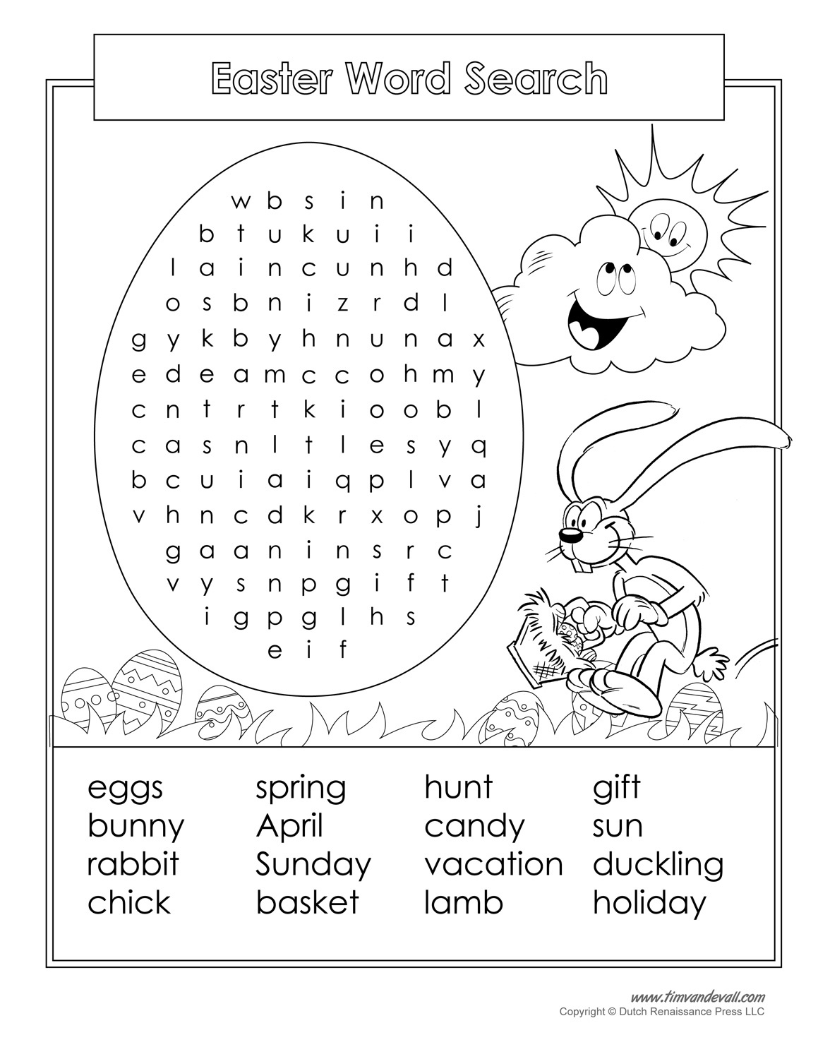 16 Printable Easter Word Search Puzzles | Kittybabylove - Free Printable Easter Puzzles For Adults