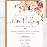 16 Printable Wedding Invitation Templates You Can Diy | Ribka Grendy   Free Printable Wedding Invitations With Photo