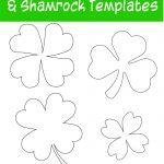 17+ Free Printable Four Leaf Clover & Shamrock Templates   The   Free Printable Shamrock Cutouts