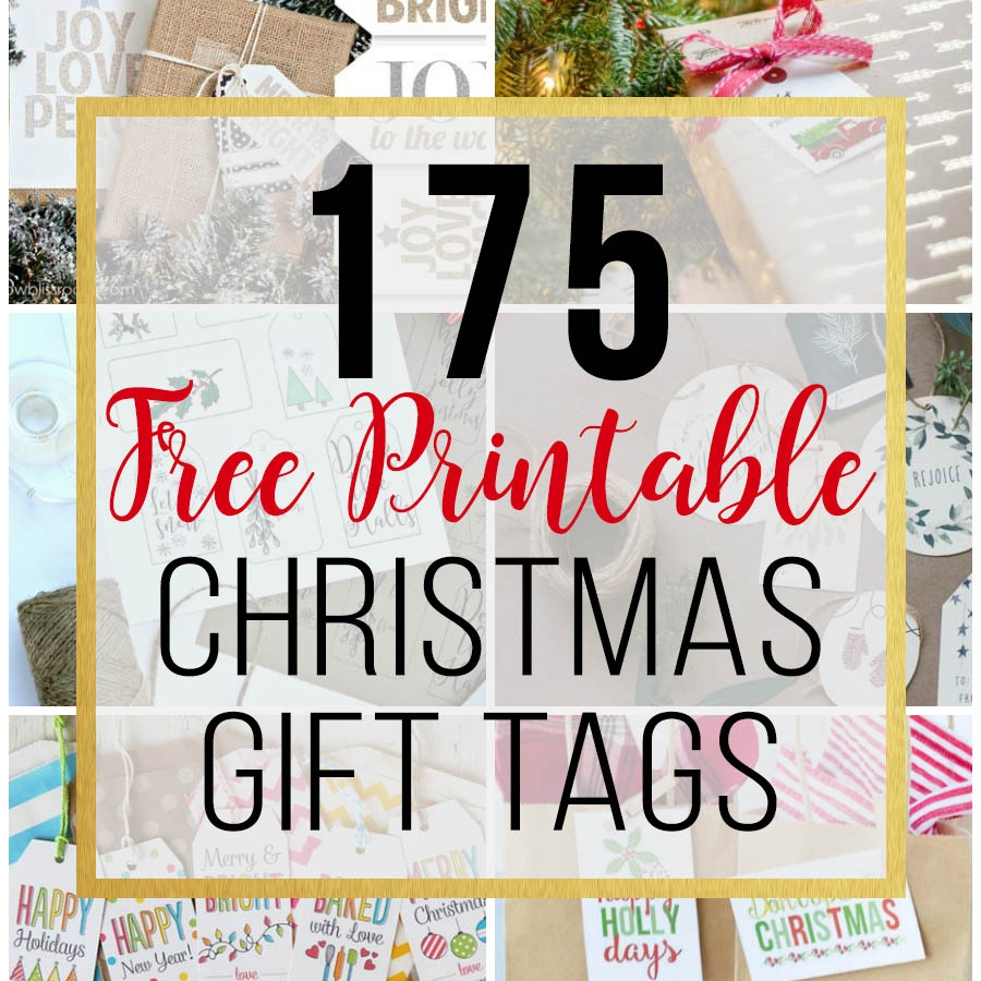 175 Free Printable Christmas Gift Tags - Unoriginal Mom - Free Printable Happy Holidays Gift Tags