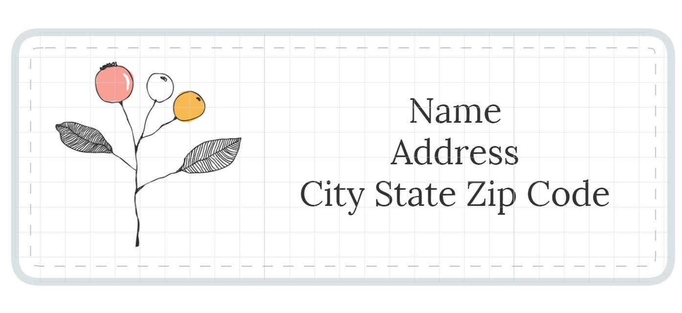 1,789 Address Label Templates - Free Printable Address Labels