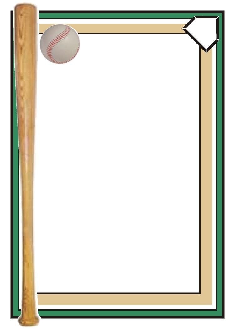 18 Baseball Border Template Images - Free Baseball Border Clip Art - Free Printable Baseball Stationery