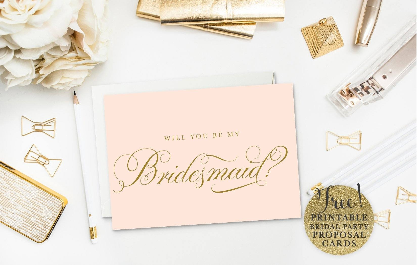 19 Free, Printable Will You Be My Bridesmaid? Cards - Will You Be My Godmother Printable Card Free