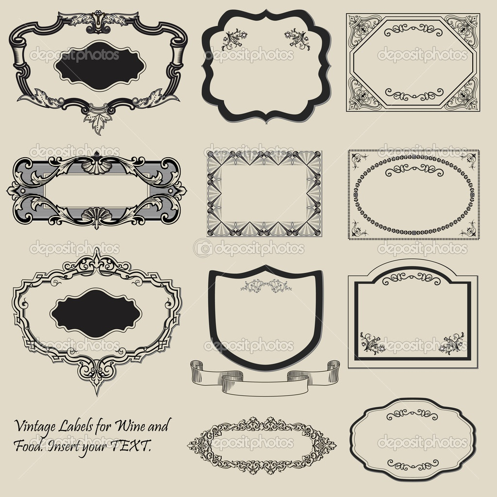 19 Vintage Label Template Images - Free Vintage Tag Label Template - Free Printable Old Fashioned Labels