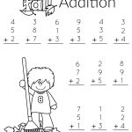 1St Grade Math And Literacy Worksheets With A Freebie! | Teachers   Free Printable Addition Worksheets For 1St Grade