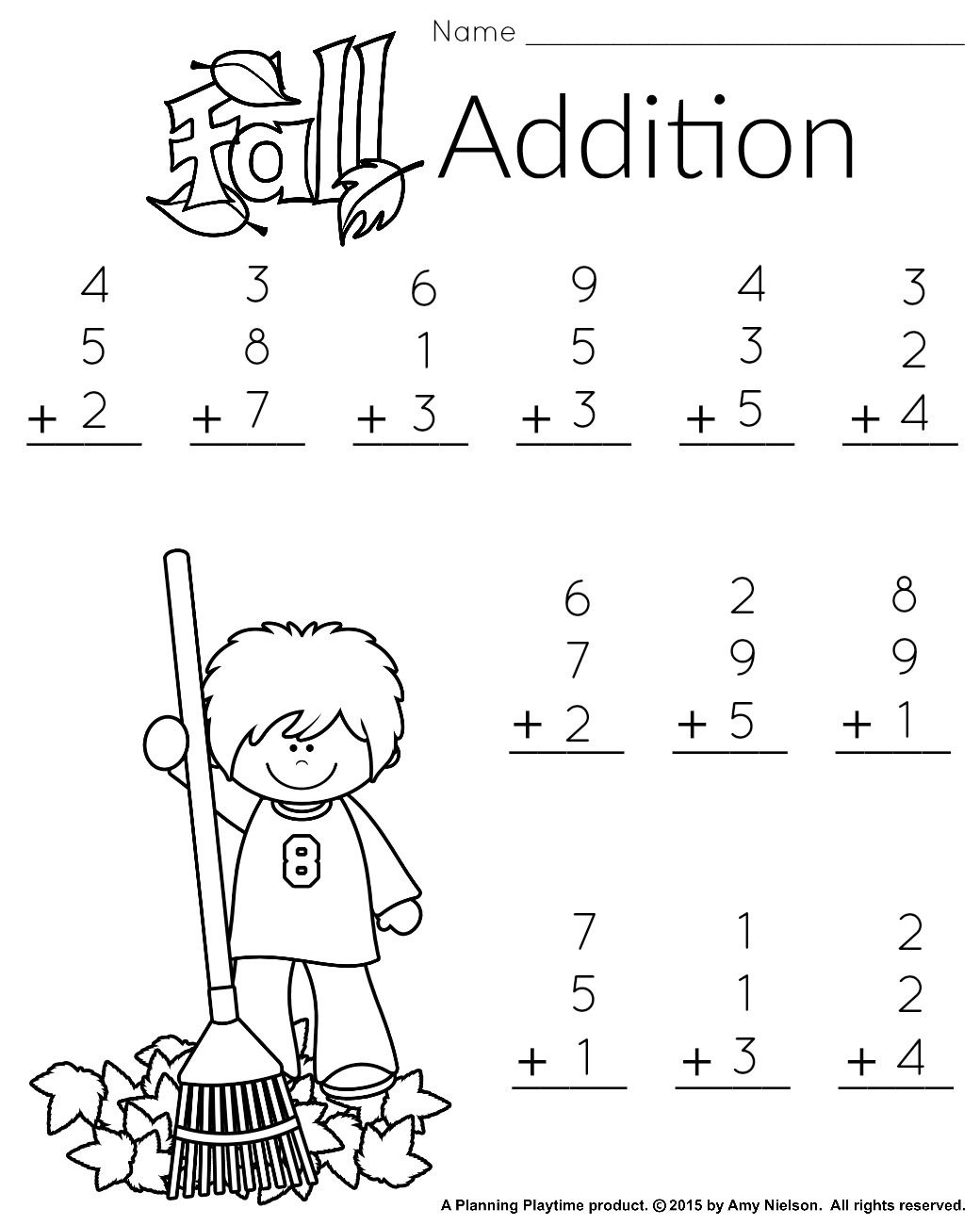 1St Grade Math And Literacy Worksheets With A Freebie! | Teachers - Free Printable Addition Worksheets For 1St Grade