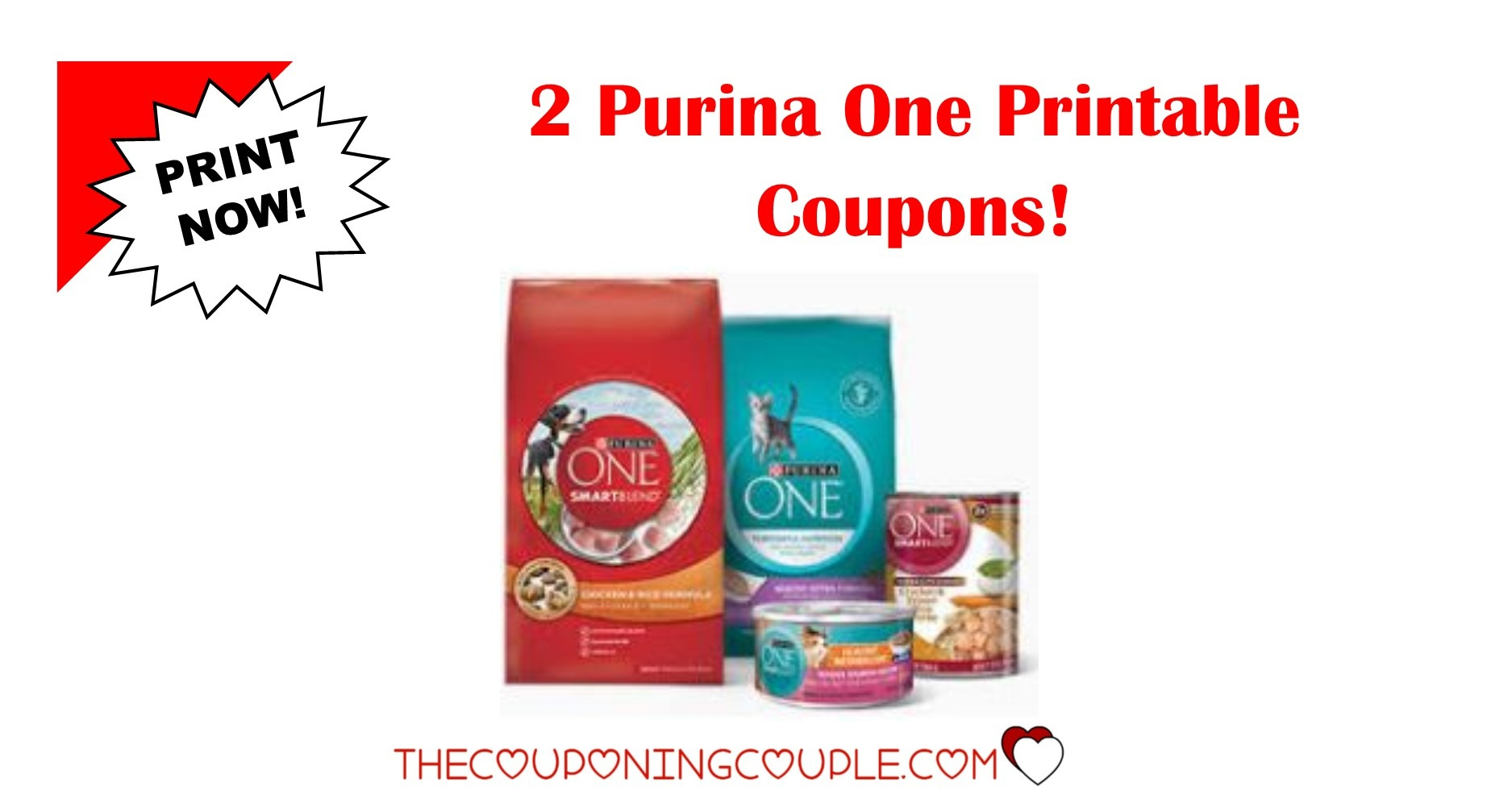 2 Purina One Printable Coupons ~ Both Coupons Are B1G1! - Free Printable Coupons For Purina One Dog Food