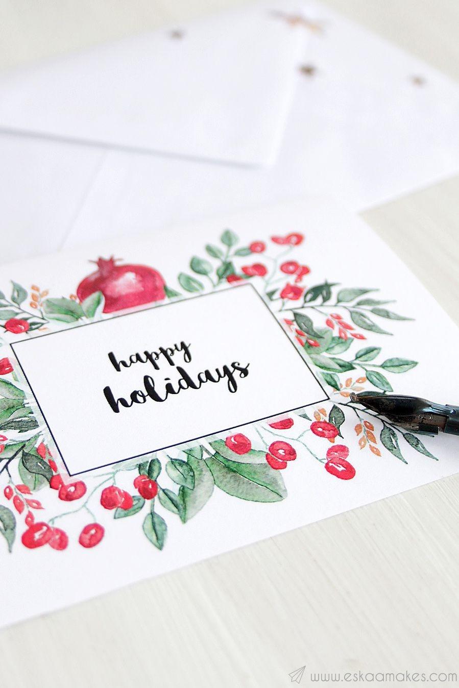 20 Diy Christmas Card Ideas - Easy Homemade Christmas Cards We're - Make A Holiday Card For Free Printable