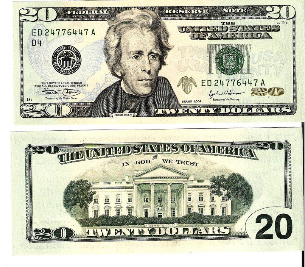 20 Dollar Bill Front And Back Actual Size | 22 | 100 Dollar Bill - Free Printable Dollar Bill Template