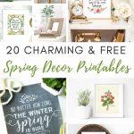 20 Free And Charming Spring Decor Printables   Shabbyfufu   Free Printable Decor