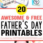 20+ Free Father's Day Printables   Happiness Is Homemade   Free Happy Fathers Day Cards Printable