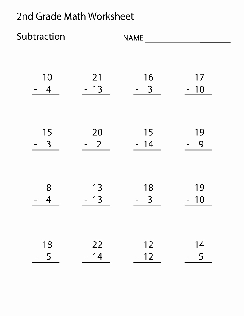 20 Free Printable Math Worksheets For Second Grade - Free Printable Second Grade Worksheets