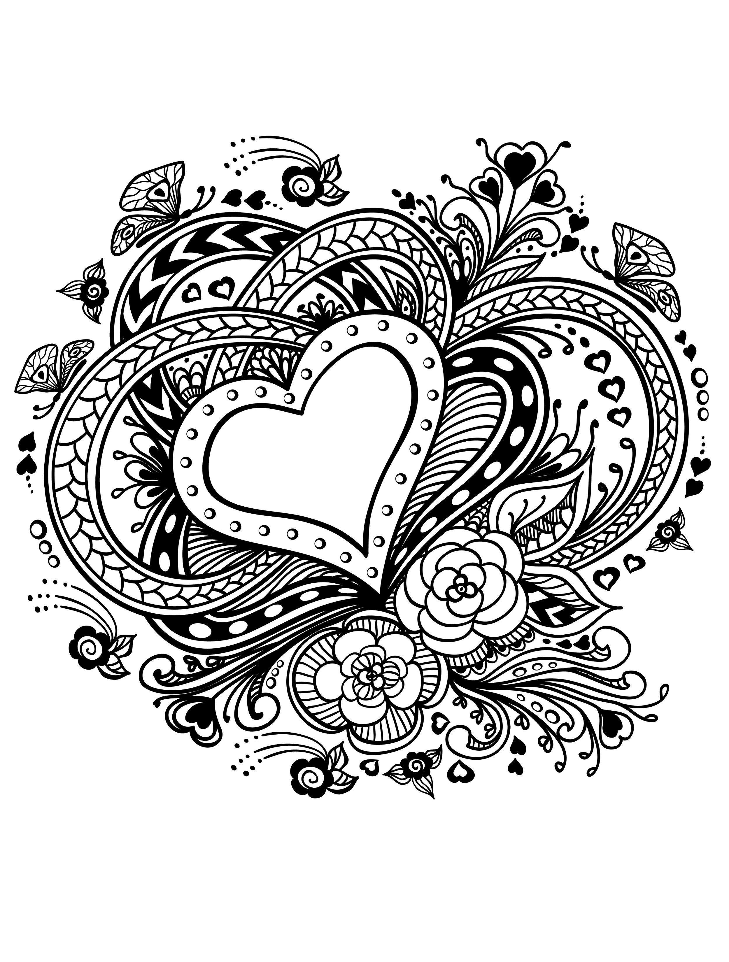 20 Free Printable Valentines Adult Coloring Pages | Coloring Pages - Free Printable Valentine Books