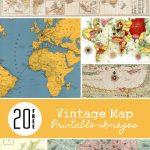 20 Free Vintage Map Printable Images | Remodelaholic #art   Free Printable Custom Maps