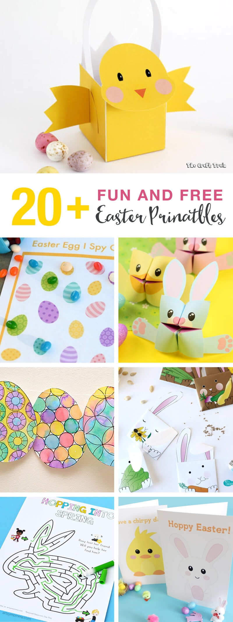 20+ Fun And Free Easter Printables For Kids | The Craft Train - Free Printable Craft Activities