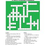 20 Fun Printable Christmas Crossword Puzzles   Kittybabylove   Free Printable Christmas Crossword Puzzles For Adults