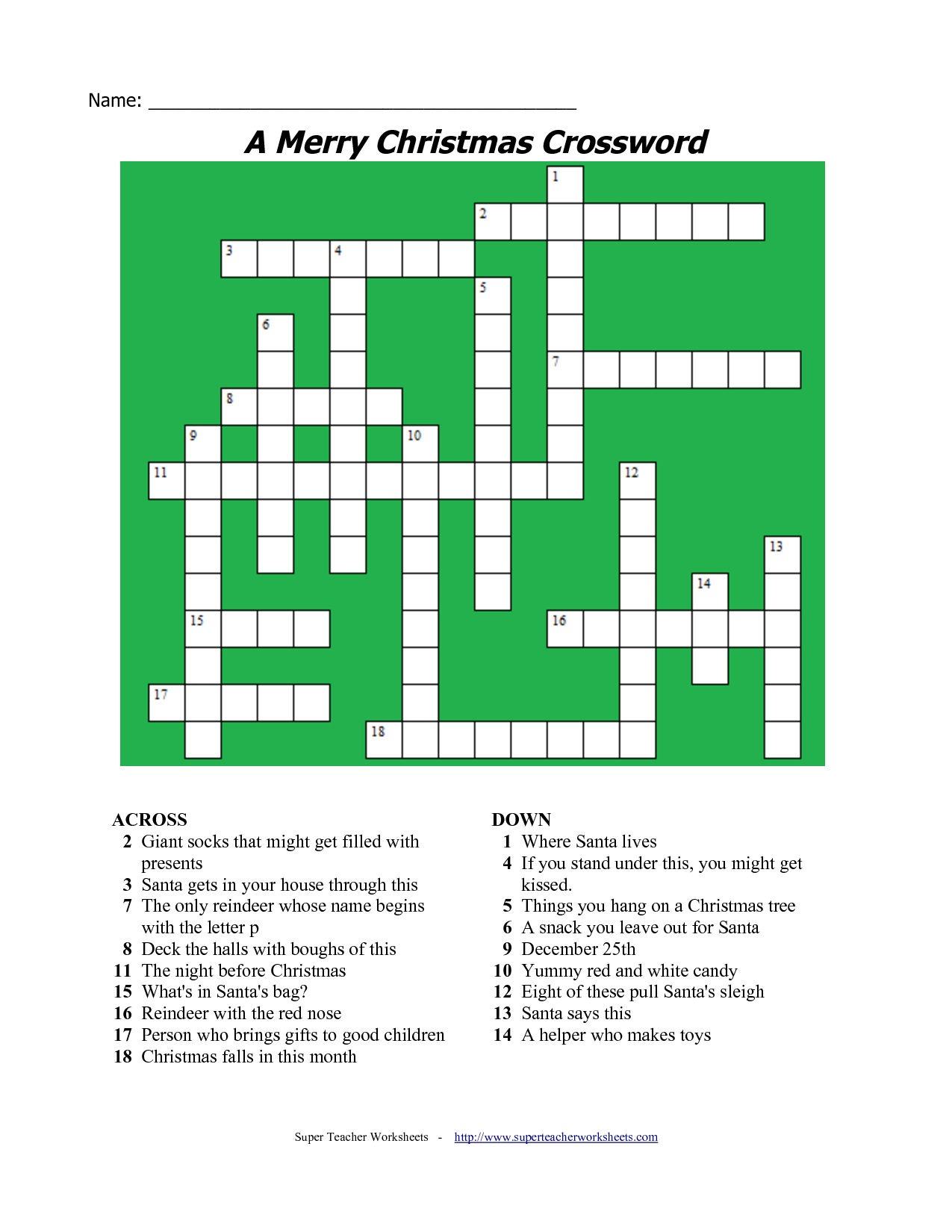 20 Fun Printable Christmas Crossword Puzzles   Kittybabylove - Free Printable Christmas Crossword Puzzles For Adults