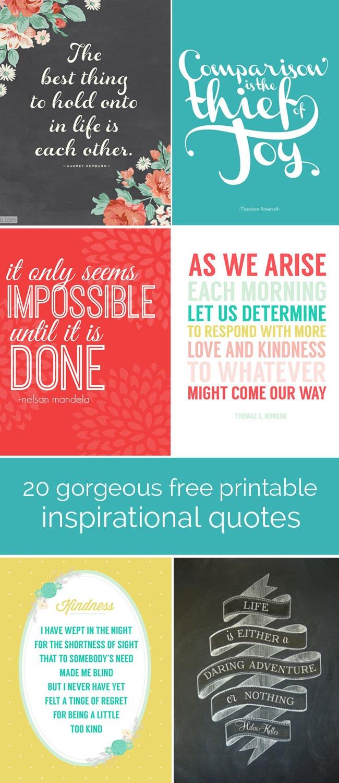20 Gorgeous Printable Quotes   Free Inspirational Quote Prints - Free Printable Quotes For Office