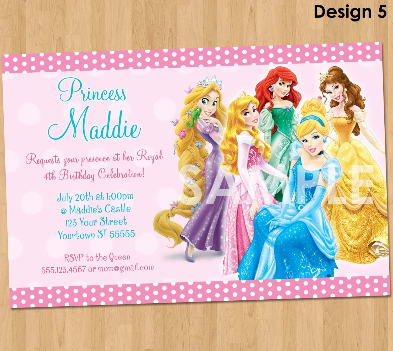 20 Ideas For Disney Princess Birthday Invitations Free Printable - Disney Princess Birthday Invitations Free Printable