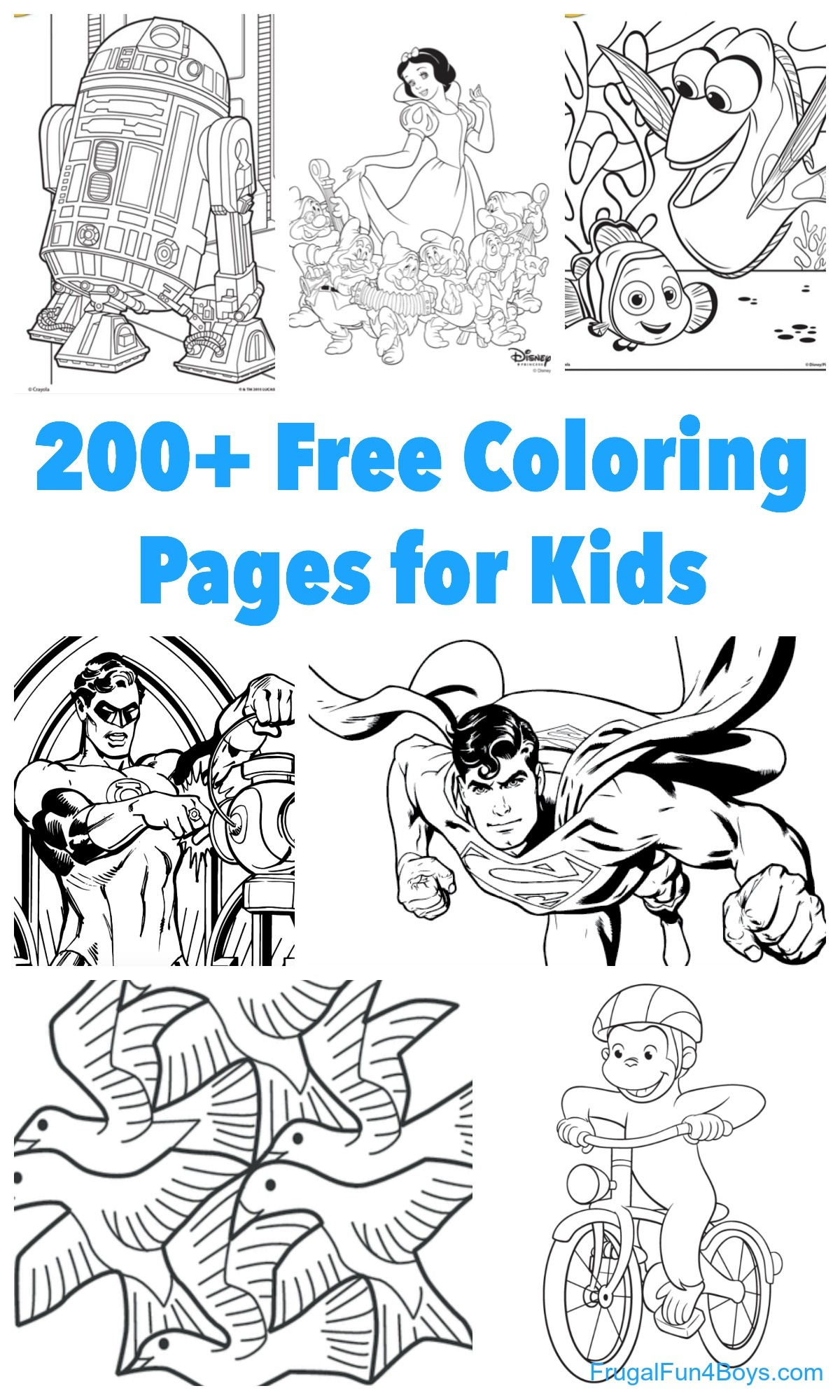 200+ Printable Coloring Pages For Kids - Frugal Fun For Boys And Girls - Free Printable Coloring Pages For Kids