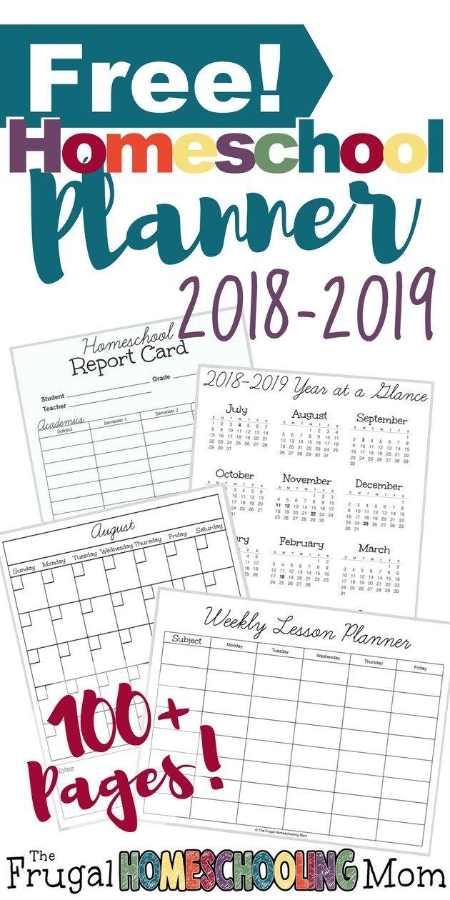 2018-2019 Free Homeschool Planner | Homeschooling | Homeschool - Free Printable Homeschool Curriculum