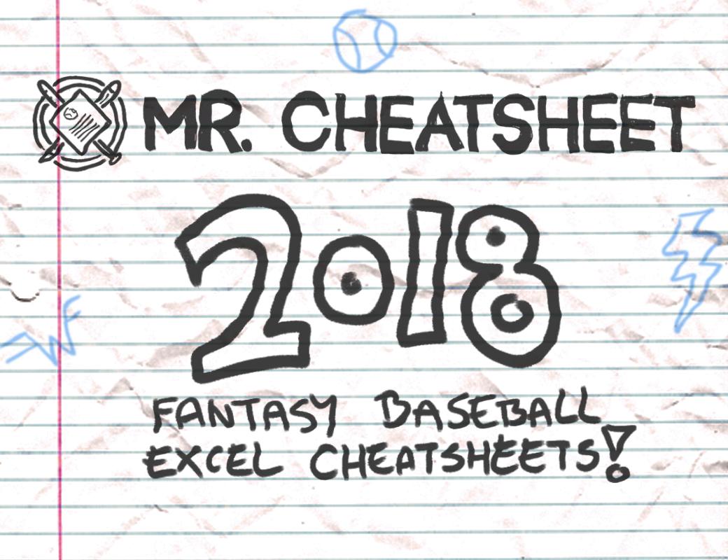 2018 Fantasy Baseball Excel Cheatsheets (Roto And Points Leagues - Fantasy Football Draft Sheets Printable Free