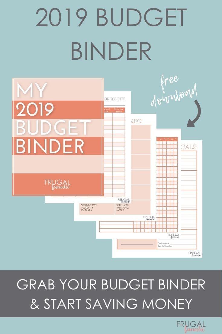 2019 Budget Binder Worksheets - Free Download   >>Frugal Living - Free Printable Budget Binder Worksheets