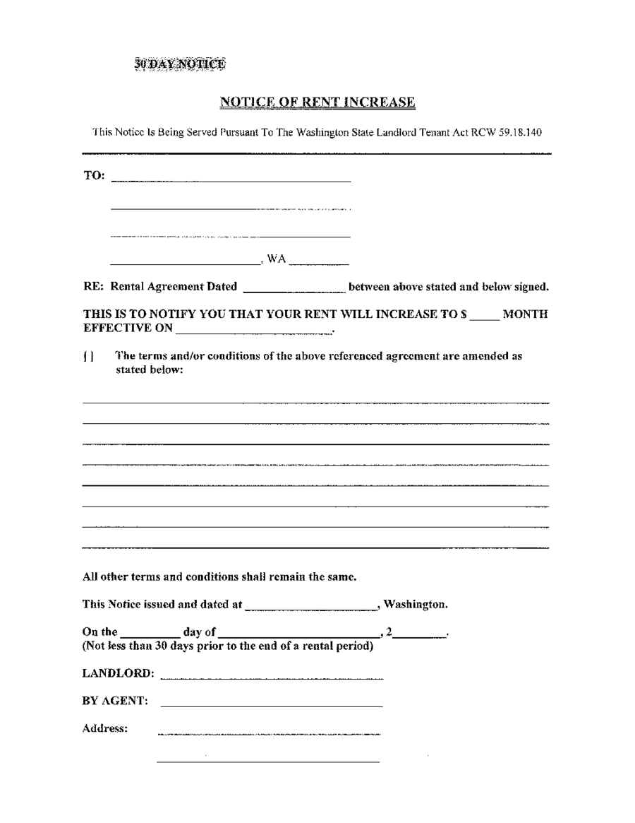2019 Rent Increase Letter - Fillable, Printable Pdf & Forms | Handypdf - Free Printable Rent Increase Letter