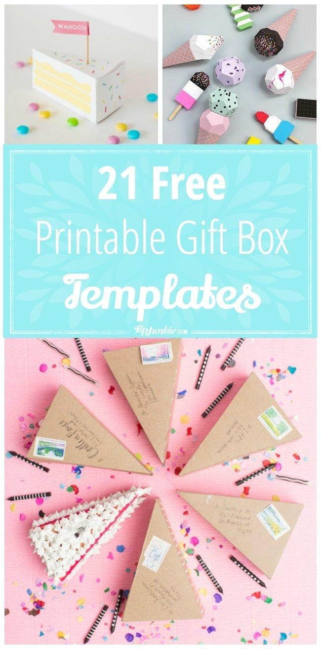 21 Free Printable Gift Box Templates | ** Free Printables ** | Diy - Free Printable Gift Boxes