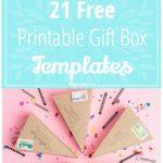 21 Free Printable Gift Box Templates – Tip Junkie   Printable Box Templates Free Download