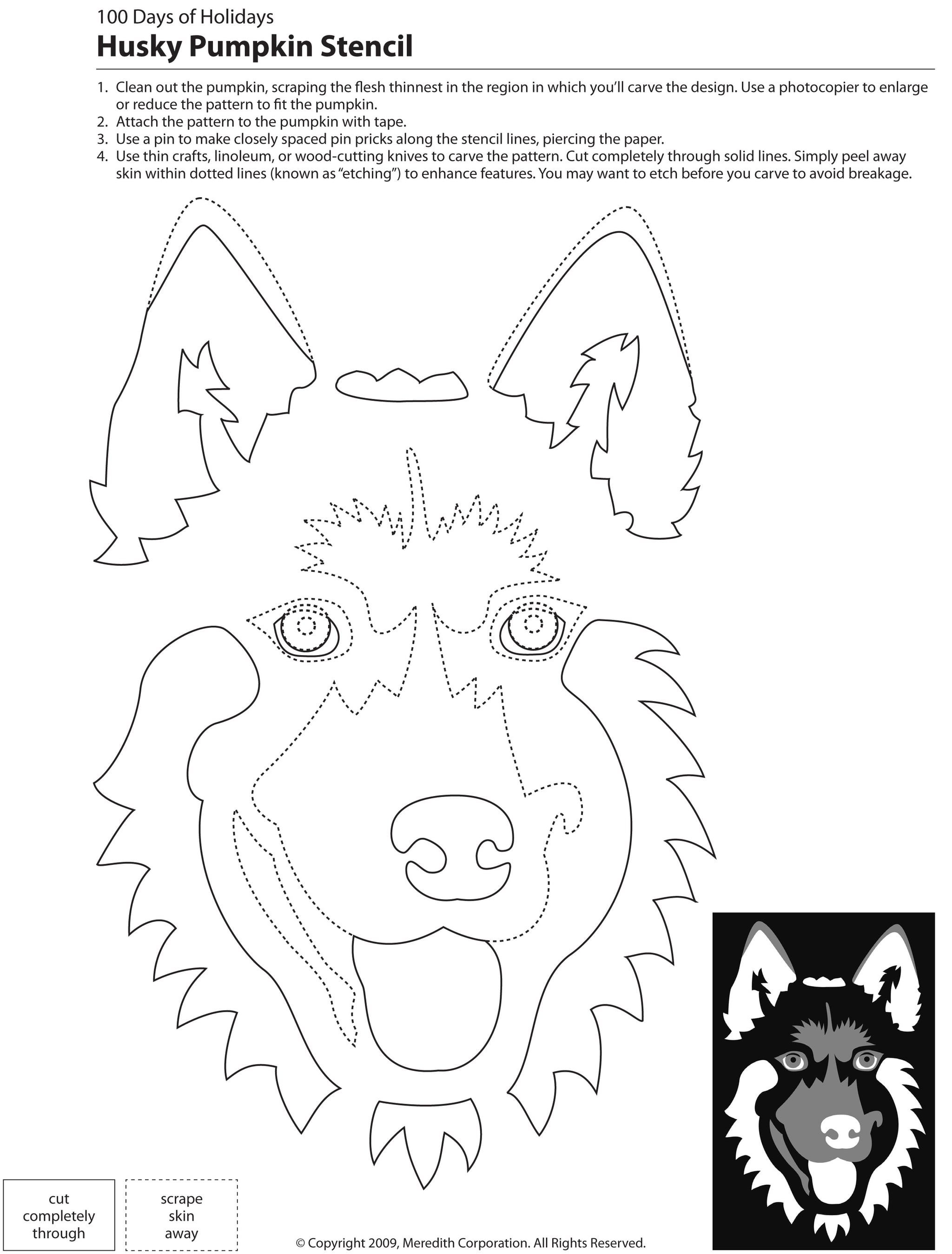 22 Free Pumpkin Carving Dog Stencils (Breed Specific) | Holidays - Free Printable Pumpkin Carving Templates Dog
