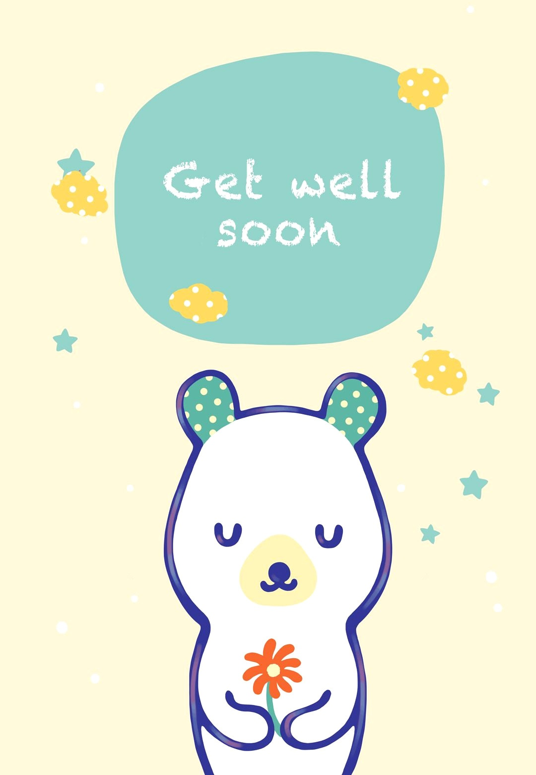 24 Comforting Printable Get Well Cards | Kittybabylove - Free Printable Get Well Soon Cards