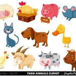 25+ Free Farm Animal Clipart | Clipartlook   Free Printable Farm Animal Clipart