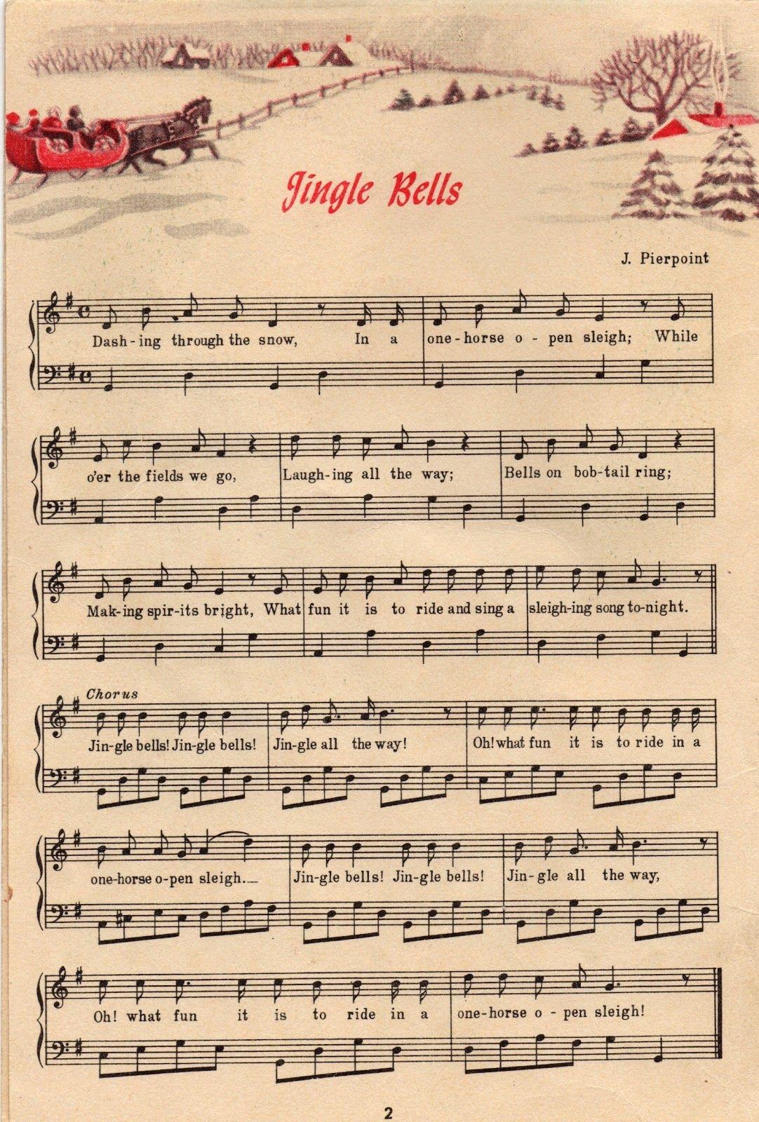 25+ Free Printable Vintage Christmas Sheet Music | Christmas Ideas - Christmas Carols Sheet Music Free Printable
