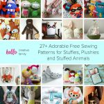 27+ Adorable Sewing Patterns For Stuffies, Plushies, Stuffed Animals   Free Printable Stuffed Animal Patterns